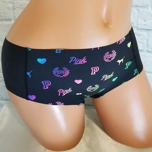 PINK Victoria's Secret Neon Logo Hipster Panty New